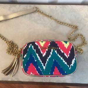 Lilly Pulitzer Cevron Clutch Crossbody Bag